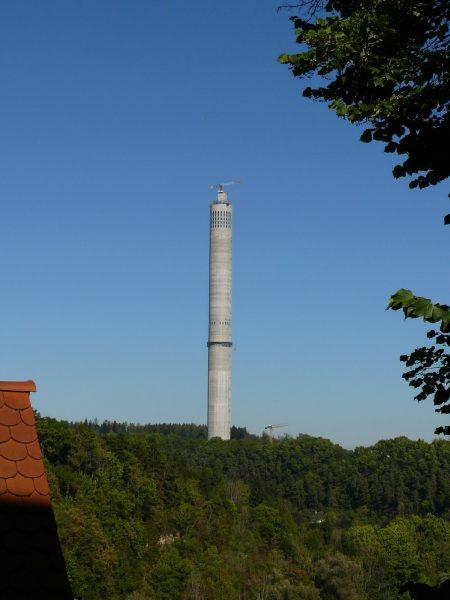 Fahrt auf den Thyssen Testturm