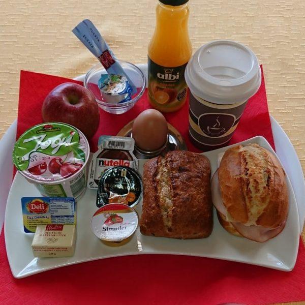 Frühstücksauswahl so lange Buffets nicht möglich sind